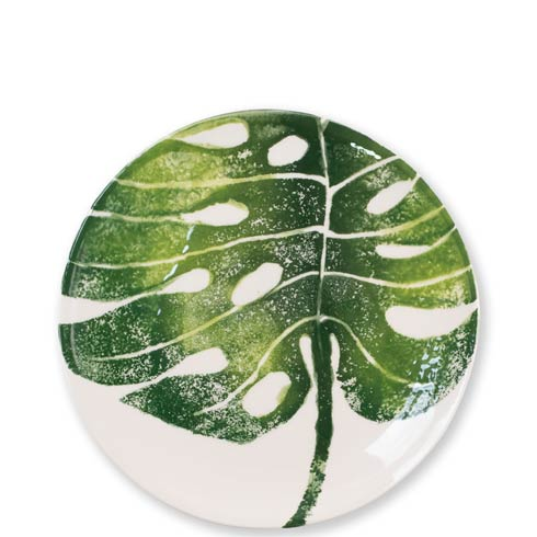 Vietri  Into The Jungle Monstera Leaf Salad Plate $36.00
