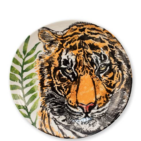 VIETRI  Into The Jungle Tiger Shallow Bowl $195.00