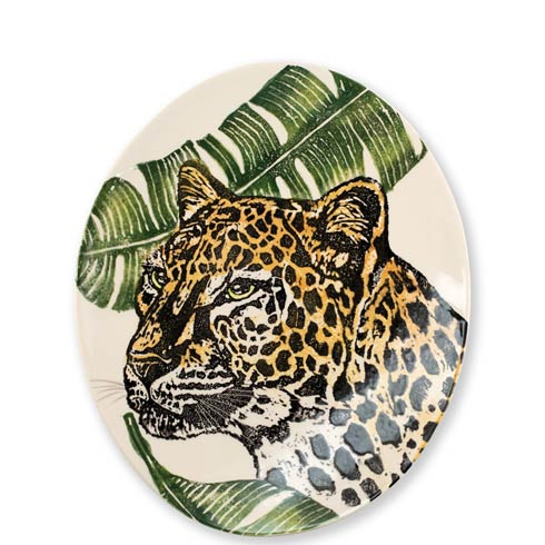 Vietri  Into The Jungle Cheetah Oval Platter $170.00