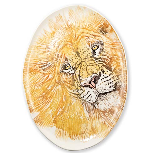 $329.00 Into the Jungle Lion Large Oval Platter