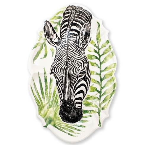 $253.00 Zebra Scallop Large Oval Platter