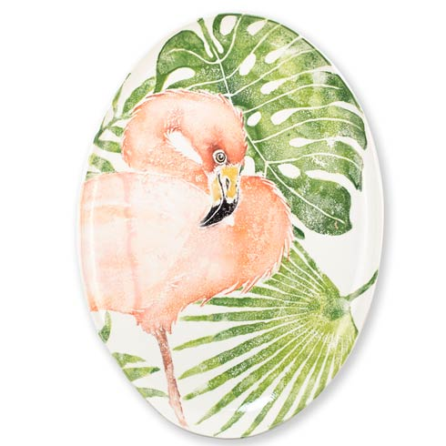 $329.00 Into the Jungle Flamingo Oval Platter