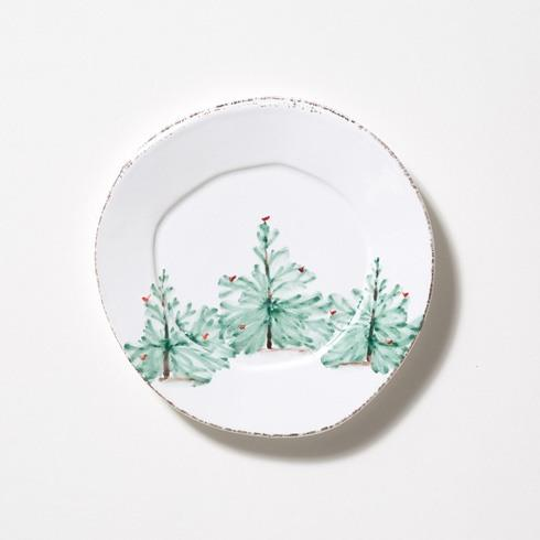 VIETRI Holiday Salad Plate