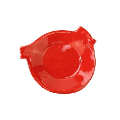 $35.00 Figural Red Bird Canape Plate