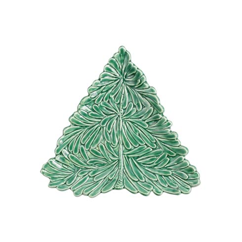 VIETRI Lastra Holiday Figural Tree Small Plate $40.00