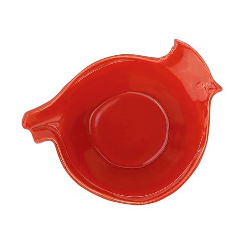 VIETRI Lastra Holiday Figural Red Bird Medium Bowl $73.00