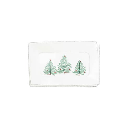 VIETRI Lastra Holiday Small Rectangular Tray $57.00
