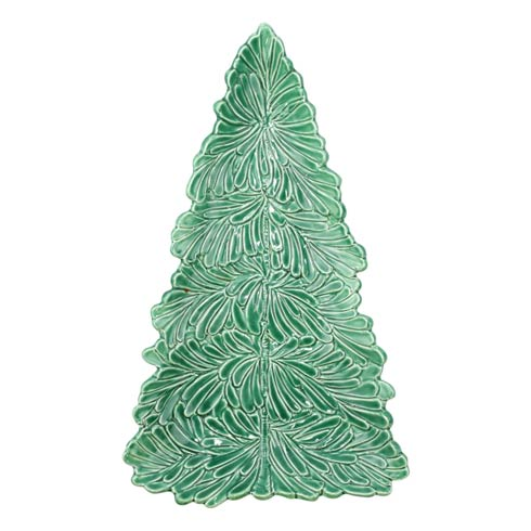 VIETRI Lastra Holiday Figural Tree Small Platter $110.00