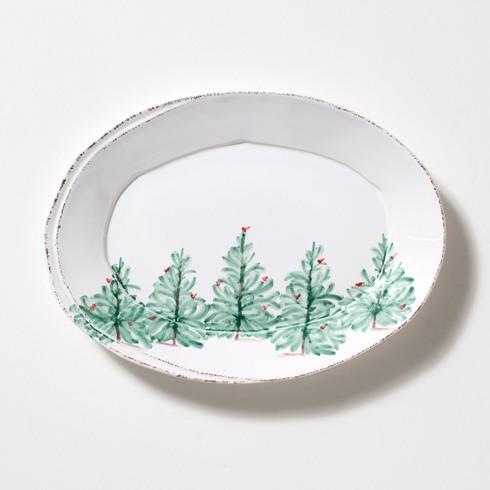 Vietri Lastra Lastra Holiday Lastra Holiday Small Oval Platter $74.00