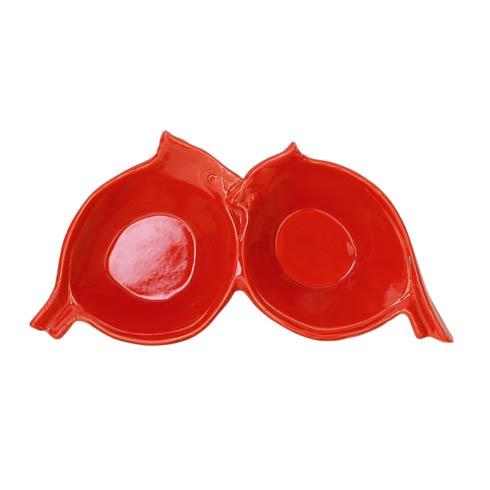 $89.00 Figural Red Bird Two-Part Server