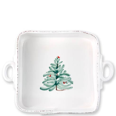 Vietri Lastra Holiday Square Baker $135.00