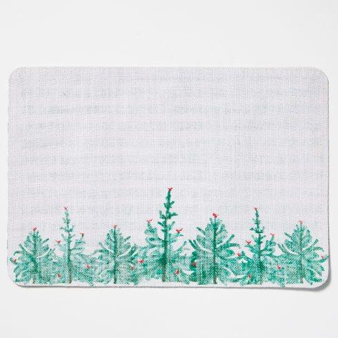 Vietri Lastra Holiday Green & White Striped Reversible Placemat $10.00
