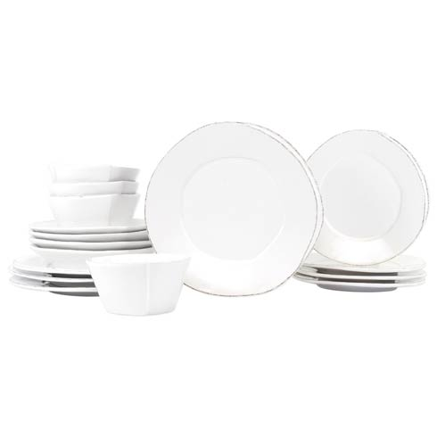 $524.00 Lastra White Sixteen-Piece Place Setting