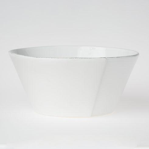 Vietri Lastra White Large Stacking Serving Bowl $130.00