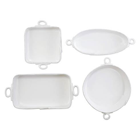 $584.00 Lastra White 4-Piece Bakeware Essentials Set