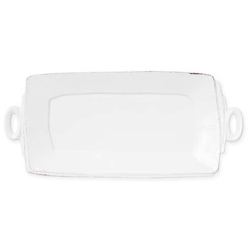 Vietri Lastra Linen Linen Handled Rectangular Platter $136.00