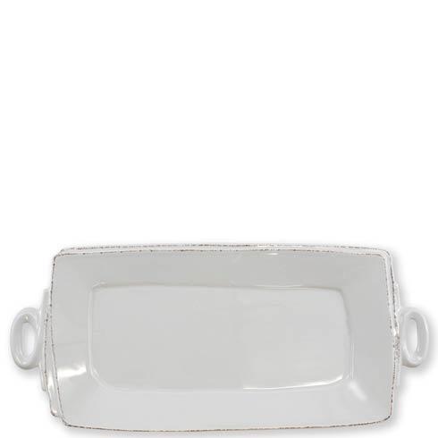 Vietri Lastra Light Gray Lastra Light Gray Handled Rectangular Platter $136.00