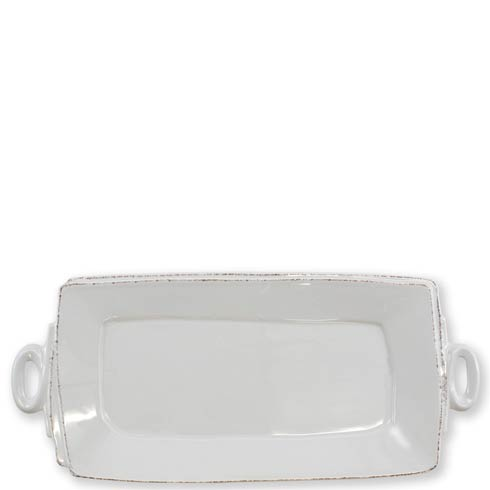 Vietri Lastra Light Gray Handled Rectangular Platter $137.00