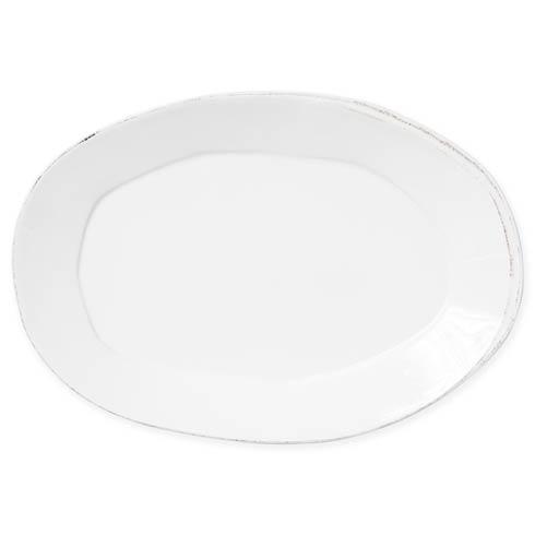 Vietri Lastra Linen Linen Oval Platter $138.00