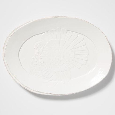 Vietri Lastra White Turkey Platter $153.00