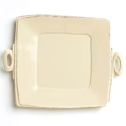 Vietri Lastra Cream Handled Square Platter $134.00