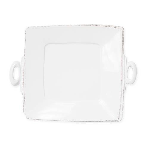 Vietri Lastra Linen Linen Handled Square Platter $134.00