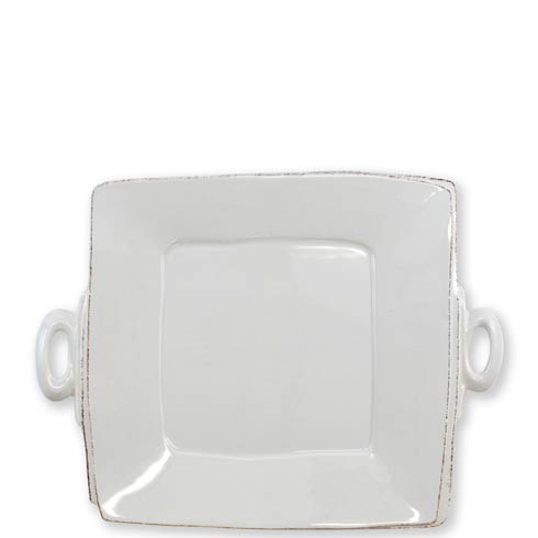 VIETRI Lastra Light Gray Handled Square Platter $135.00
