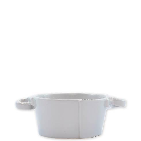 VIETRI Lastra Light Gray Small Handled Bowl $51.00