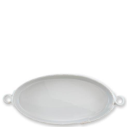 VIETRI Lastra Light Gray Handled Oval Baker $137.00