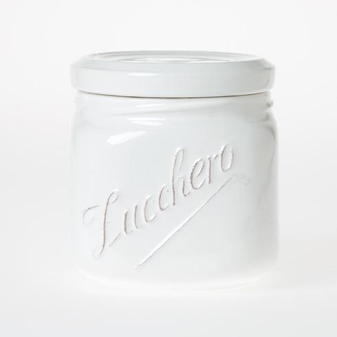 Vietri Lastra White Medium Canister $81.00