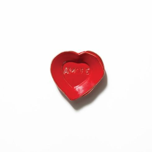 Red Heart Mini Amore Plate