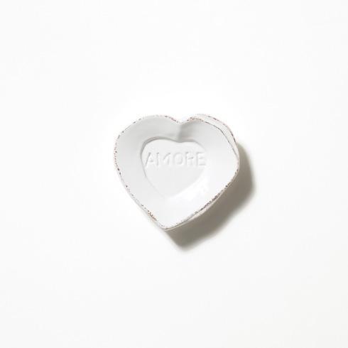 Vietri Lastra White Heart Mini Amore Plate $18.00