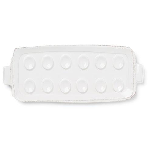 VIETRI Lastra White Egg Tray $109.00