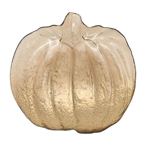 $60.00 Leaf Glass Bronze Pumpkin Platter