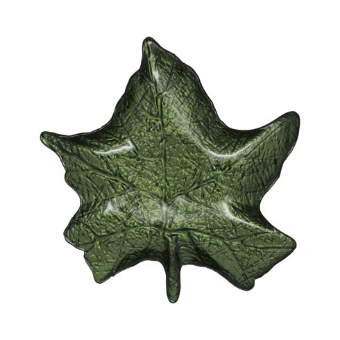 $35.00 Green Maple Leaf Plate