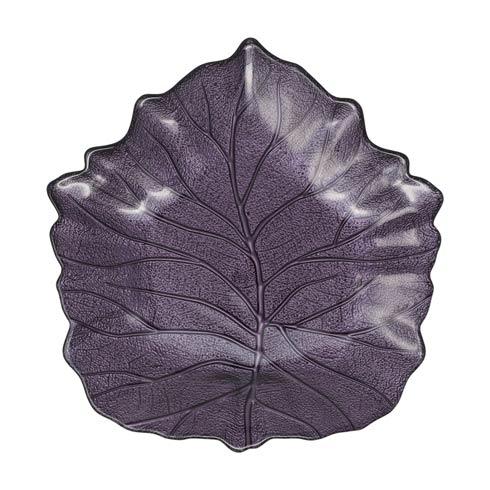 $25.00 Purple Elm Leaf Plate