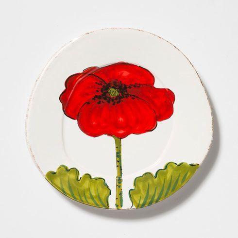 Lastra Poppy Salad Plate
