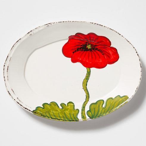 Vietri Lastra Poppy Small Oval Platter $70.00