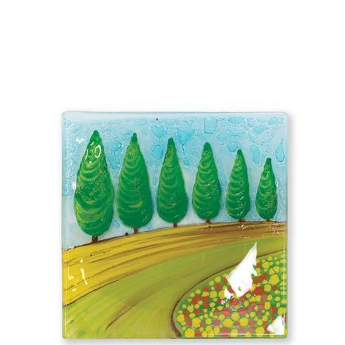 $48.00 Glass Trays Cypress Trees Tray