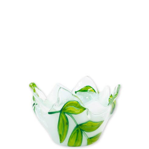 $44.00 Glass Votives Green Leaves Votive