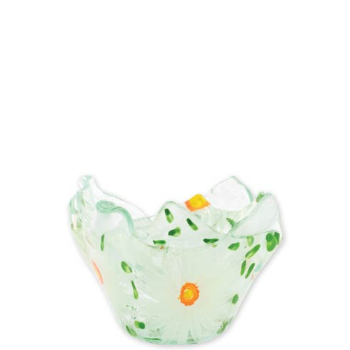 $44.00 Glass Votives White Flowers Votive