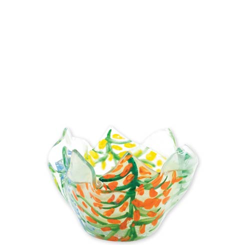 $44.00 Glass Votives Colorful Leaves Votive