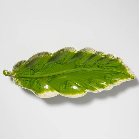 $260.00 Reactive Leaves Long Platter