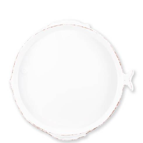 $75.00 White Round Platter