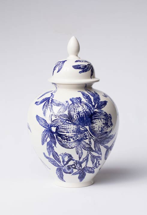 Vietri  Melagrana Blu Large Ginger Jar $325.00