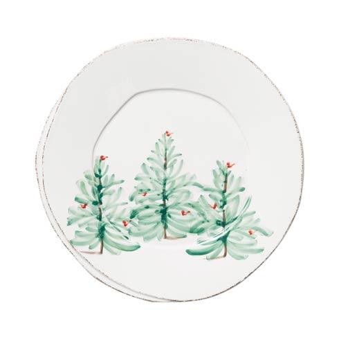 VIETRI   Melamine Lastra Holiday Dinner Plate $22.00