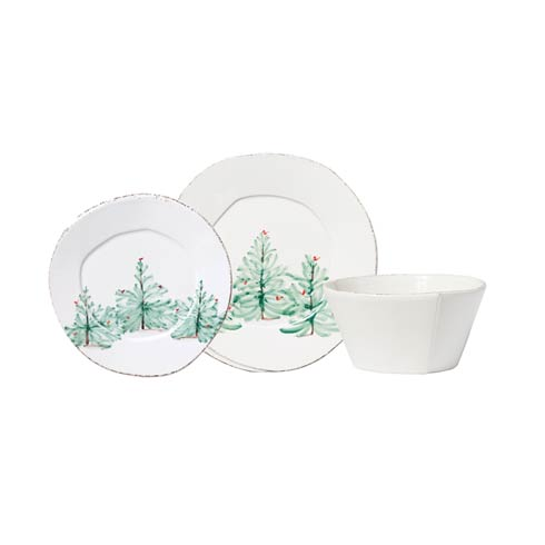 $60.00 Holiday Three-Piece Place Setting