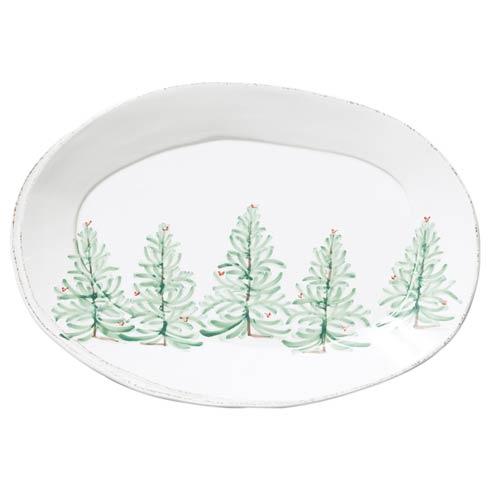VIETRI   Melamine Lastra Holiday Oval Platter $61.00