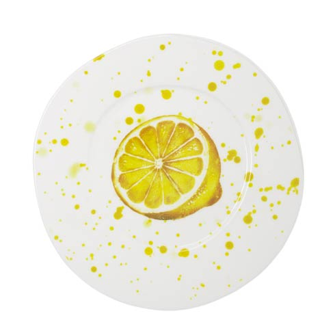 VIETRI Melamine Fruit Lemon Dinner Plate $22.00