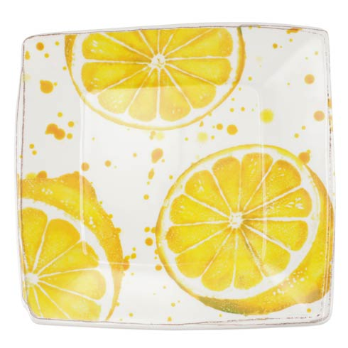 VIETRI Melamine Fruit Lemon Square Platter $66.00